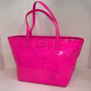 Kate spade ♠️ pink patent leather perforated tote
